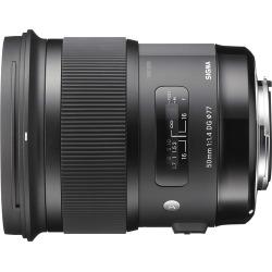 Sigma – 50mm f/1.4 Art DG HSM Lens for Nikon SLR Cameras – Black
