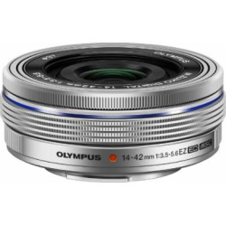 Olympus 14-42mm f3.5-5.6 EZ Interchangeable Lens for Olympus/Panasonic Micro 4/3 Digital Camera (Silver)