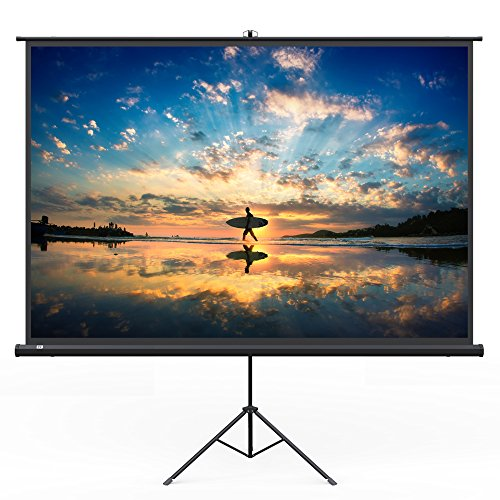 TaoTronics Projector Screen with Stand, TT-HP020 Indoor and Outdoor Movie Screen 120″ Diagonal 4:3 with Wrinkle-Free Design (Easy to Clean, 1.1 Gain, 160° Viewing Angle and Includes a Carry Bag)