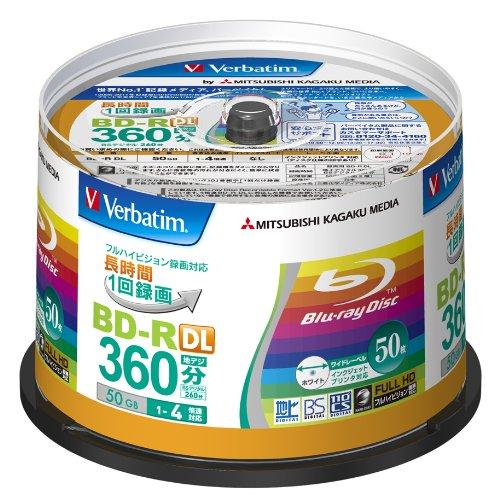 Verbatim Blu-ray Disc 50 pcs Spindle – 50GB 4X BD-R DL – Inkjet Printable