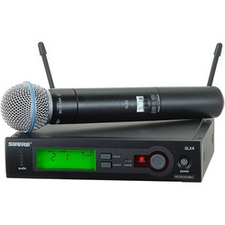 Shure SLX24/BETA58A Wireless Vocal System with Beta 58A Handheld Mic