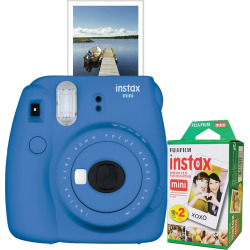 Fujifilm Instax Mini 9 Instant Camera Bundle, Blue