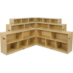 Kids' 8 Compartment Fold & Lock Cabinet 36 – ECR4Kids, Wood