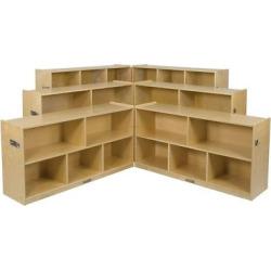 kids 8 compartment fold lock cabinet 36 ecr4kids wood - Allshopathome-Best Price Comparison Website,Compare Prices & Save