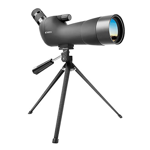 ENKEEO Waterproof Spotting Scope 20-60X60AE with Tripod Review, 45-Degree Angled Eyepiece, Optics Zoom 41-21m (134-69ft)/1000m – Black