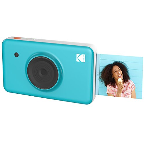 Kodak Mini SHOT Wireless 2 in 1 Instant Print Digital Camera & Printer With LCD Display w/4PASS Patented Printing Technology (Blue) – Real Ink in an Insatnt