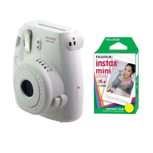 Fujifilm FU64-MINI8WK20 INSTAX MINI 8 Camera and Film Kit with 20 Exposures (White)
