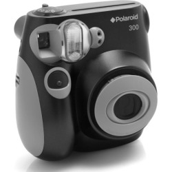 Polaroid PIC 300 Analog Instant Camera, Black