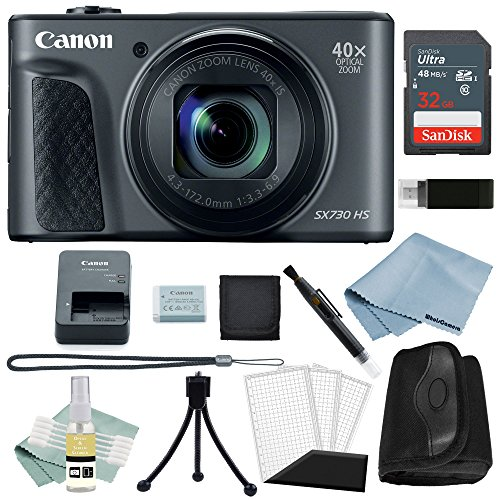Canon Powershot SX730 HS Bundle (Black) + Canon SX730 HS Basic Accessory Kit – Including EVERYTHING You Need To Get Started