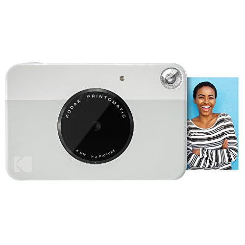 Kodak PRINTOMATIC Digital Instant Print Camera (Grey), Full Color Prints On ZINK 2×3″ Sticky-Backed Photo Paper – Print Memories Instantly