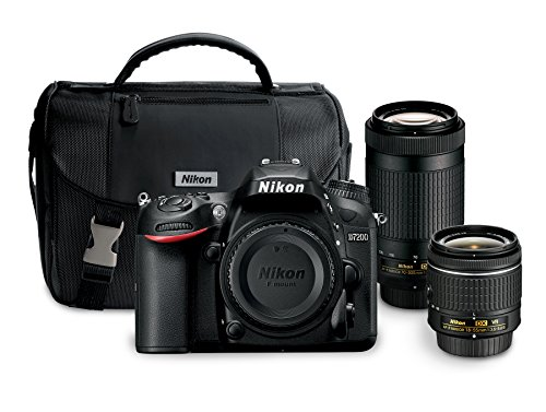 nikon d7200 242 mp dual zoom lens kit with 32 lcd black - Allshopathome-Best Price Comparison Website,Compare Prices & Save