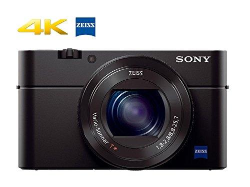 Sony RX100 IV 20.1 MP Premium Compact Digital Camera w/1-inch sensor, 4K movies and 40x super slow motion HD DSCRX100M4/B