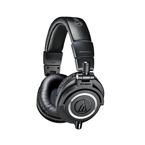 Audio-Technica ATH-M50x Professional Studio Monitor Headphones (Certified Refurbished)