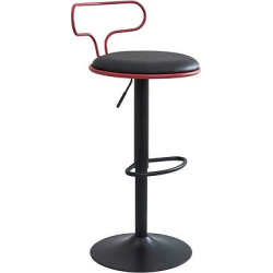 Contour Contemporary Adjustable Barstool -Red & Black – LumiSource, Red