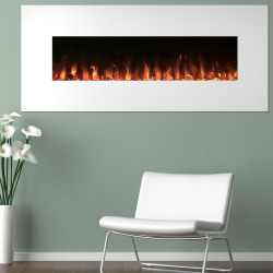Northwest 50″ Electric Color Changing Wall Mount Fireplace, White