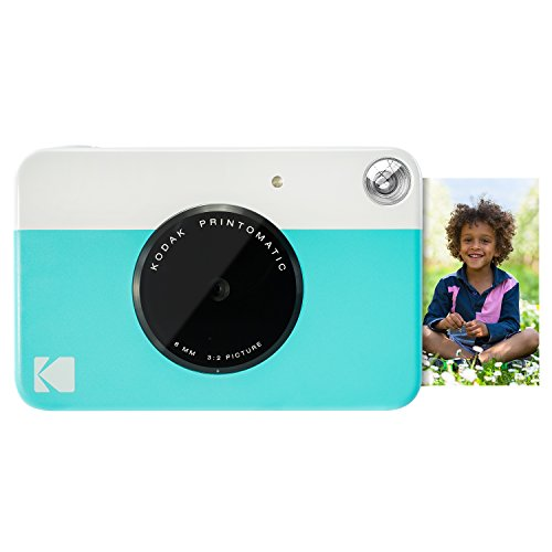 Kodak PRINTOMATIC Digital Instant Print Camera (Blue), Full Color Prints On ZINK 2×3 Sticky-Backed Photo Paper – Print Memories Instantly