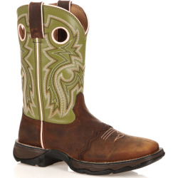 Durango Lady Rebel Powder 'N Lace Women's Cowboy Boots, Size: medium (7), Green