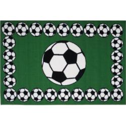Fun Rugs Fun Time Soccer Time Rug, Multicolor