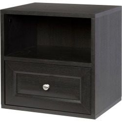 Creative Ware Home Storage Cube with Shelf and Drawer, Brown