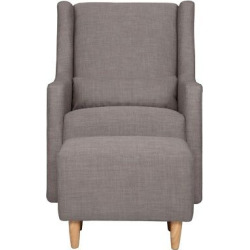 Babyletto Toco Swivel Glider and Ottoman – Gray Tweed