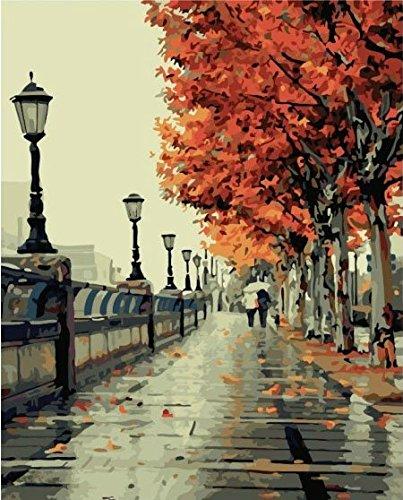 Colour Talk Diy oil painting, paint by number kit- Romantic love autumn 16×20 inch
