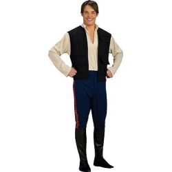 Star Wars Men's' Han Solo Costume One Size Fits Most, Multi-Colored