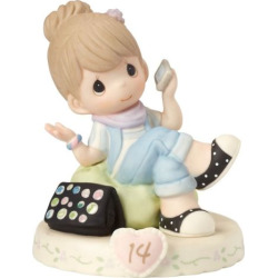 Precious Moments Growing In Grace Age 14 Girl Figurine, Brown