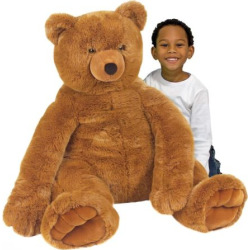 Melissa and Doug Plush Jumbo Teddy Bear, Brown