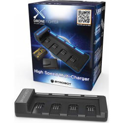 Byrobot Drone Fighter Power Pack Charger with Batteries, Black