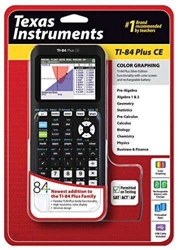 Texas Instruments TI-84 Plus CE Graphing Calculator, Black