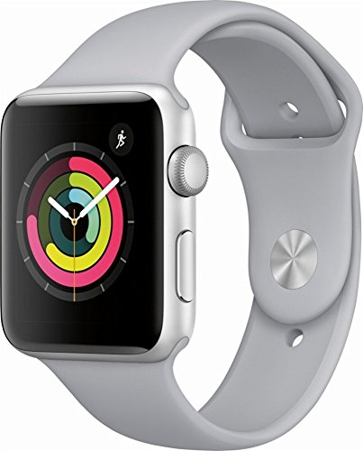 Apple Watch Series 3 42mm Smartwatch (GPS Only, Silver Aluminum Case, Fog Sport Band) (Certified Refurbished)