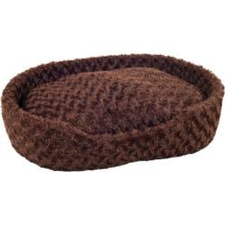 PAW Cuddle Round Plush Pet Bed – 26 1/2 x 39 1/2, Brown