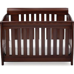 Delta Children Clermont 4-in-1 Convertible Crib – Chocolate, Choocolate