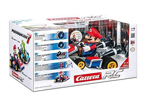 Carrera 7 Mario 2.4 Ghz Servo Tronic Kart, 1:16 Scale