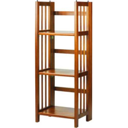 Casual Home 3-Shelf Folding Stackable Bookcase, Brown