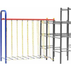 Skywalker Sports Jungle Gym Hanging Bridge Add-On Module, Blue