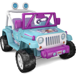 Disney's Frozen Power Wheels Jeep Wrangler by Fisher-Price, Multicolor