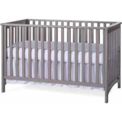 Child Craft London Stationary 3-in-1 Crib, Grey