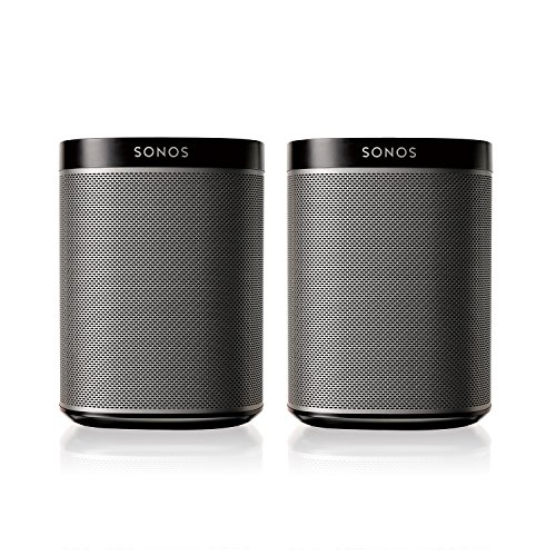Sonos PLAY:1 2-Room Wireless Smart Speakers for Streaming Music – Starter Set Bundle (Black), Works with Alexa