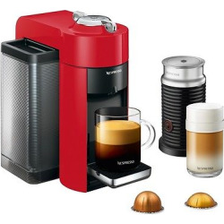 Nespresso Vertuo Coffee and Espresso Machine by De'Longhi with Aeroccino, Red