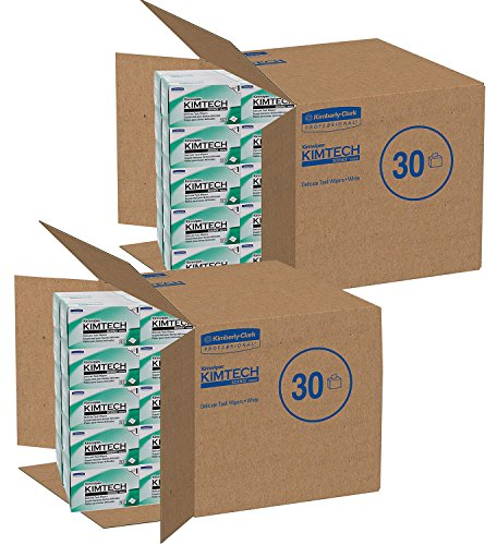 Kimwipes Delicate Task Kimtech Science Wipers (34120), White, 1-PLY, 30 Pop-Up Boxes/Case, 280 Sheets/Box, 8,400 Sheets/Case (2 pack)