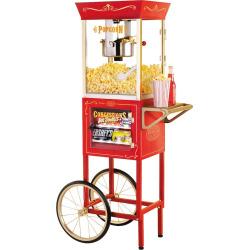 Nostalgia Electrics Vintage Series Commercial Popcorn & Concession Cart, Multicolor