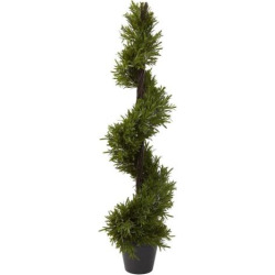 nearly natural 39-in. Rosemary Spiral Tree – Indoor & Outdoor, Green