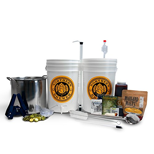 Northern Brewer Brew. Share. Enjoy. HomeBrewing Starter Set With Block Party Amber Beer Brewing Recipe Kit And Stainless Steel Brew Kettle – Equipment For Making 5 Gallons Of Homemade Beer
