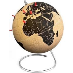 suckuk Cork World Globe 20 Diameter, Brown