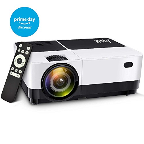 Wsky 2018 Upgraded 2500 Lumens LCD LED Portable Home Theater Video Projector, 40000+ Hours Support HD 1080P for Outdoor Movie Night, Family, Compatible with Phone, DVD Player, PS4, XBOX, HDMI, USB, SD