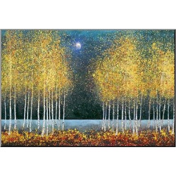 Art.com Decorative Wall Panel Blue Moon – Gold