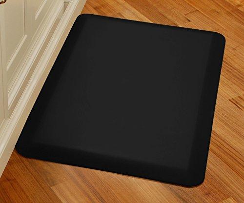 WellnessMats Original Anti-Fatigue Kitchen Mat, 36 Inch by 24 Inch, Black