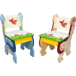 Fantasy Fields Dinosaur Kingdom Chair (Set of 2) – Teamson