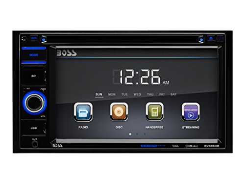 Car Stereo   BOSS Audio BV9364B Double Din, 6.2 Inch Digital LCD Monitor, Touchscreen, DVD/CD/MP3/USB/SD AM/FM, Bluetooth, Wireless Remote